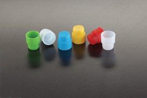 Simport T401-3W Polyethylene Cap and Stopper for 12mm Tube, White (Bag of 4000)