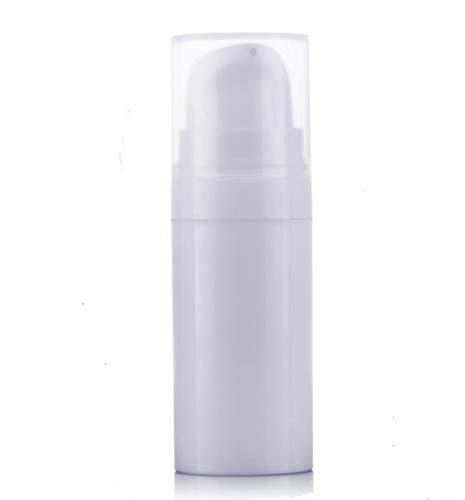 WOIWO 2 Pieces White Empty Reusable Airless Vacuum Pump Bottle, Travel Cream Lotion Toner Container (10ml)