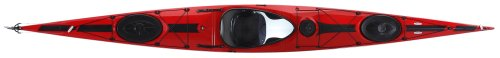 Tahe Marine Wind Composite Sit-In Sea/Touring Kayak, Red/Black, 17.58-Feet