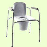 Invacare I-Class All-in-One Commode for use Beside or as Raised Toilet Seat
