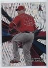 Gr Confetti (Garrett Richards #47/99 (Baseball Card) 2015 Topps High Tek - [Base] - Pattern 1 Waves Confetti Diffractor #HT-GR)
