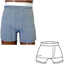 Options Ostomy Support Barrier Inc 8094006Xll Options MenS Boxer Brief With Built-In Barrier/Support, Gray, Left-Side Stoma, X-Large 44-46,Options Ostomy Support Barrier Inc - Each 1