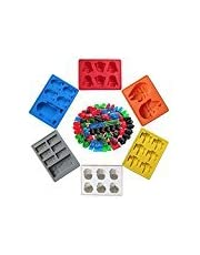 Newyond Ice Cube Tray, FDA Certified BPA Free Silicone Ice Cube Tray Moulds,Star Wars Character Shapes for Lovers or Party Theme