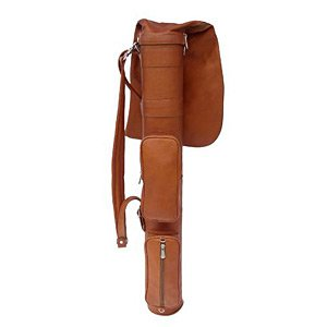 Piel Leather Executive Golf Travel Bag, Saddle by Piel Leather