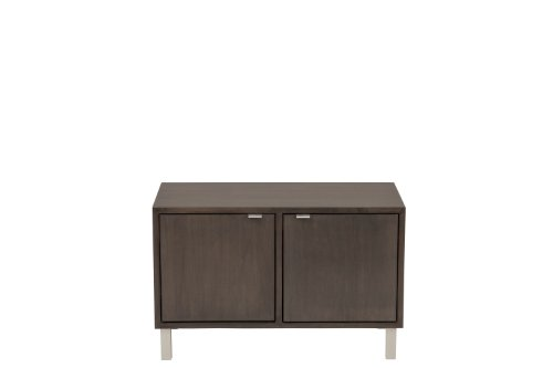 Urbangreen MED4MDFWhi Media Double Cube with Doors in Painted Eco MDF, White Paint