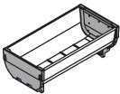 Blum Inc. ZSI.020SI Orgaline For Wood Drawers Accessories Double Tray, Stainless Steel