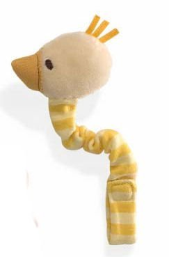 Silly Stripes Duck Pacifier Clip