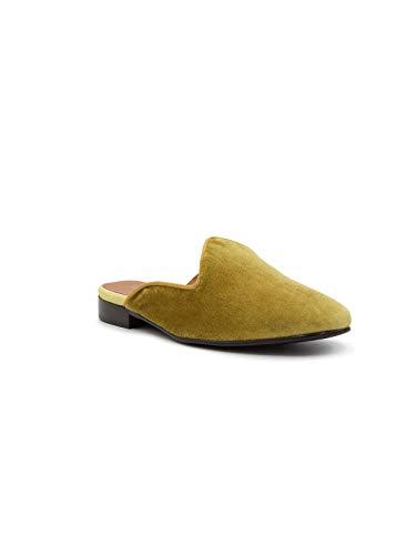 Via Roma 15 femme Sandales en pour jaune velours 11H6r