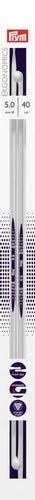 Longitud de 40/cm 1 par 5/mm Prym Agujas ergon/ómicas para Tejer Marca Metal