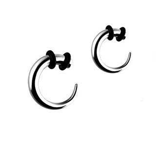 (316L Surgical Stainless Steel Hook Tapers - 4G (5mm), Sold as a Pair)