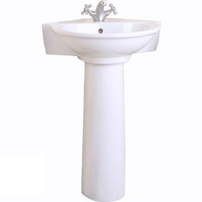 Pegasus Evolution Corner Pedestal Combo Bathroom Sink in ()
