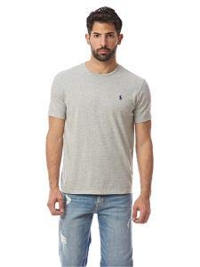 Polo Ralph Lauren Men's Crew Neck T-Shirt (XX-Large, Grey Heather/Blue -