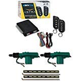 Scytek A15 1-Way Car Alarm System with 2 Remotes & Keyless Entry + Universal Door Lock Actuator 2 Wire