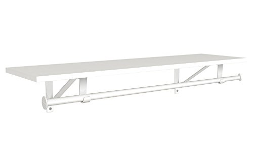 ClosetMaid 3304940 Wood Shelf with Hang Rod, 3-Foot X 10-Inch, White