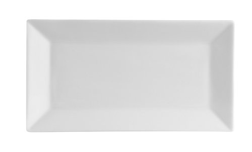CAC China RE-RT13 Square 11-1/2-Inch by 6-1/4-Inch Stoneware Rectangular Platter, American White, Box of 12
