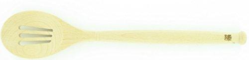 Sabatier 5216782 Beechwood Slotted Spoon, 14-Inch