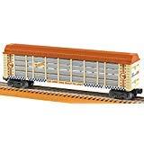 Lionel 684705 Hot Wheels 50th Anniversary Auto Rack, O Gauge, Orange, Tan, Blue, Silver