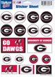 Ncaa Bulldogs University Georgia (WinCraft NCAA University of Georgia Vinyl Sticker Sheet, 5