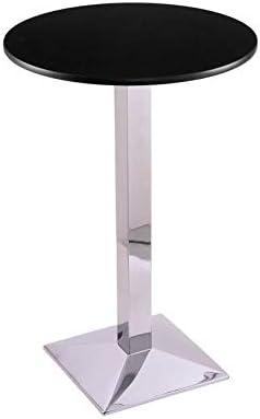 "Holland Bar Stool Co. 21736CH24R 36"" 217 Chrome Table with 24"" Diameter Top"