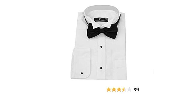 Matthew Griffin Camisa de esmoquin para hombre, cuello de ala ...
