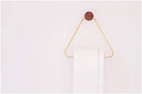 Peino Porte-papier toilette mural moderne en m/étal triangulaire pour salle de bain Dor/é
