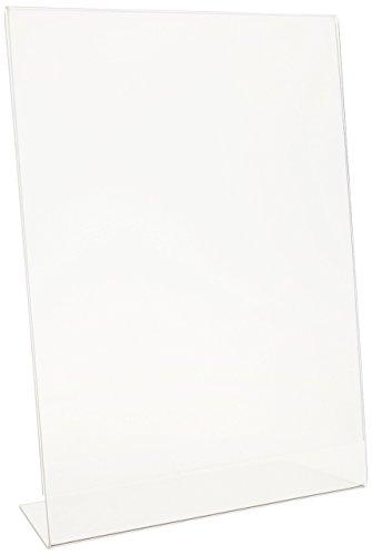 Deflect-O Anti-Glare Slanted Portrait Sign Holder (Deflect O Sign Holder)