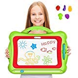 Magnetic Drawing Board, Geekper Green Erasable Colorful Magna Doodle Drawing Board Toys