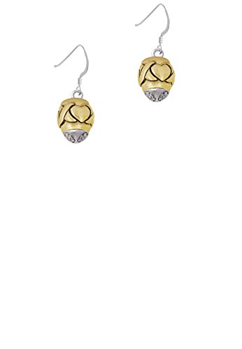 French Kiss Ring (X Heart Spacer Goldtone Spinner - French Earrings)