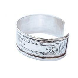 bijoucolor - Gros Bracelet rigide gravé touareg en argent gravé