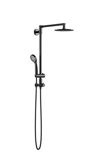 Polaris III Retrofit Rain Shower System, 3-Setting Handheld Shower Combo with Slide Bar, 8