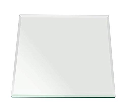 Fаb Glаss Аnd Mirrоr Office Home Furniture Premium Square Glass Table Top, 16 Inch, -