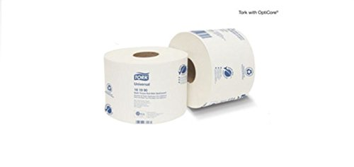 Tork 161990 Universal Bath Tissue Roll Opticore Tissue 36/865/Case