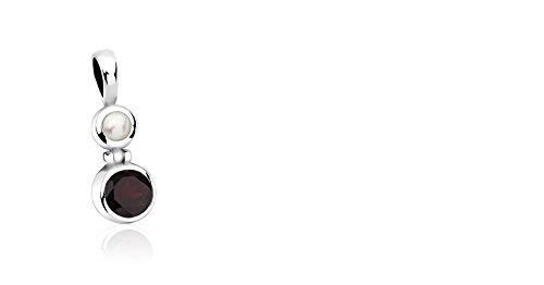 Pure Pendentif en argent sterling 925avec haute qualité Grenat et perle SDPM