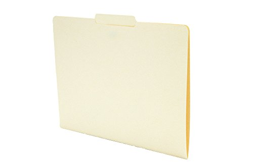 Folders Single Ply Tab - TAB Manila Folder with Single Ply Top Tab – Letter, 1/3 Cut Center Tab Position, 11 pt, 100/box