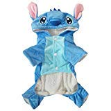 Hencool Disney Stitch Cartoon Pet Custume Coat for Small Medium Large Dogs -