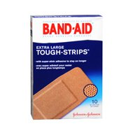 BAND-AID Tough-Strips Bandages, Extra Large 10 ea (Pack of 3) by Band-Aid