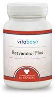 Resveratrol Plus (Formula) 60 Capsules per Bottle (5 Pack) by Vitabase