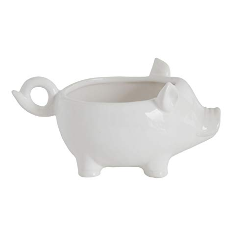 Creative Co-Op DA6922 Pig Shaped Bowl, 7.25