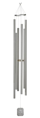 Grace Note Chimes 7ST Regular Steeple Sunrise Serenade Wind Chimes, 57-Inch, Silver