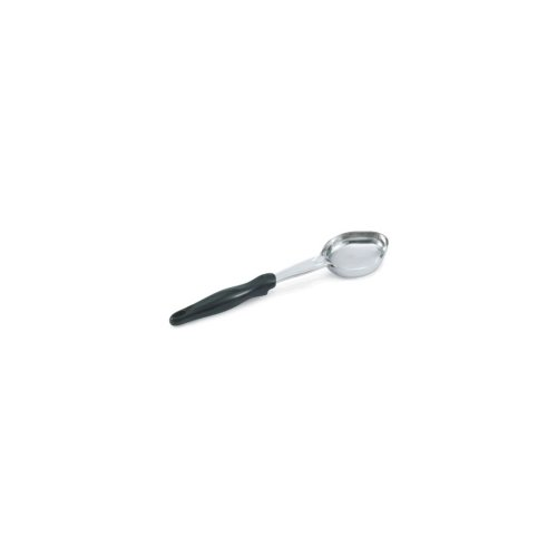 Vollrath 6412620 Black HD Oval S/S 6 Oz. Solid - Solid Spoodle 6 Ounce