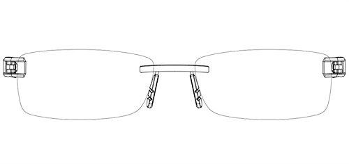 Tag Heuer Glasses Frames L-Type T 0152 002 Platinum Black - L Sunglasses Type Tag Heuer