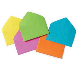 """Enclosure Card #63 Everyday Asst Colors Envelopes 2 1/2"""" X 4 1/4"""" Gift Supplies- 50 Pack"""