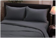 Grey Queen Sleeper Sofa Bed Sheet Set in 100% Egyptian Cotton