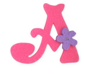 Pink Felt Alphabet Letters iron on motif Girl Letter A Amazon