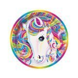 "Lisa Frank Rainbow Majesty Unicorn 7"" Paper Plate (8 Count)"
