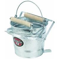 Behrens Galvanized Mop Bucket with Rollers, 3-Gallon