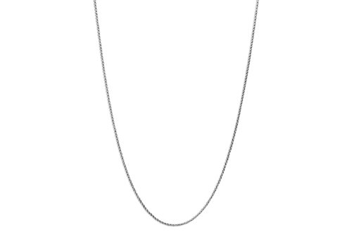 (CloseoutWarehouse Stainless Steel Rolo Chain Necklace 2MM Size 24