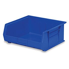 Akro-Mils 30250 Plastic Storage Stacking AkroBin, 15-Inch by 16-Inch by 7-Inch, Blue, Case of ()