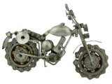 - Collectible Art Sculpture 7 Inch Rough Rider Motorcycle Made with Recycled Metal