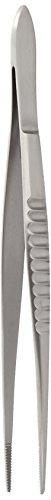 - Miltex 6-28 Dressing Forceps, Delicate, Fluted, Serrated Tips, 5.5